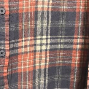 Mudd Tops - Mudd Flannel - Light Pink / Steel Blue - Medium